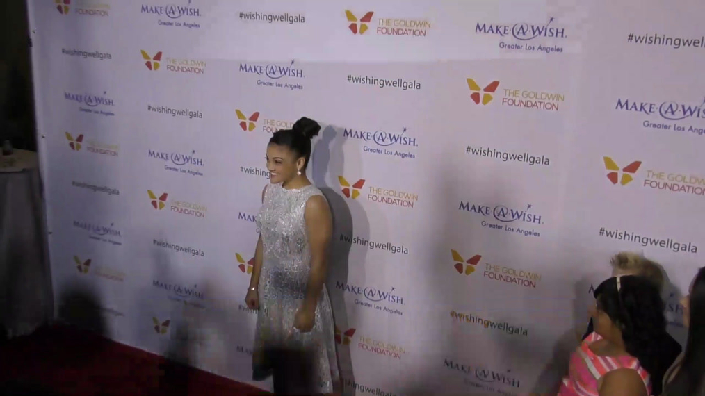 Laurie Hernandez at the 4th Annual Wishing Well Winter Gala at Hollywood Palladium in Hollywood.mp4