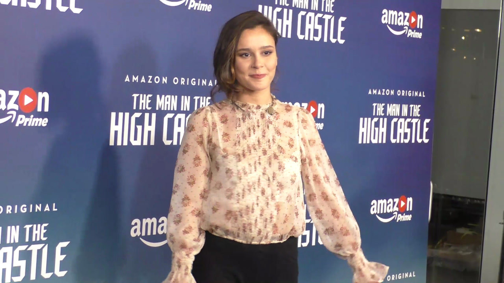 Bella Dayne at the Premiere Of Amazon's Man In The High Castle Season 2 at the Pacific Design Center in West Hollywood.mp4