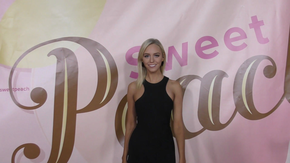 Paige Mobley at the Too Faced's Sweet Peach Launch Party at The Lot in Hollywood.mp4