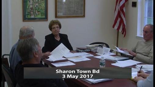 Sharon Town Bd -- 3 May 2017