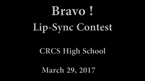 CRCS HS Bravo! -- 3-29-2017