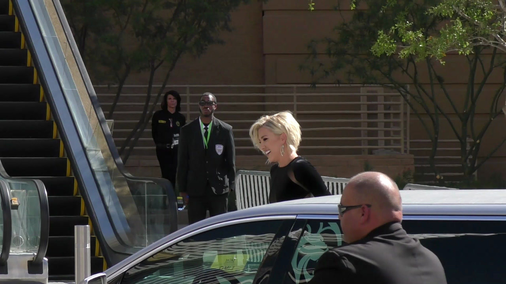 Savannah Chrisley arriving to the 52nd Academy Of Country Music Awards at T-Mobile Arena in Las Vegas.mp4