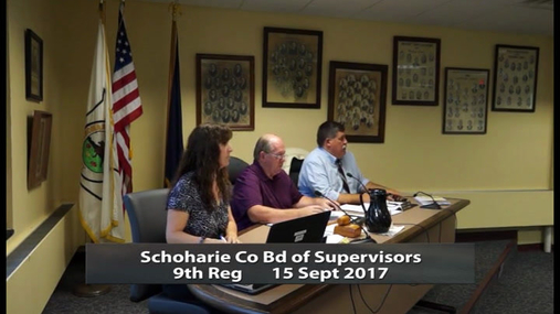 Schoharie Co Bd of Supervisors 9th Reg -- 15 Sept2017