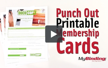 image regarding Printable Membership Cards named Order Docucopy 90lb Punch Out Design 1up Printable Bundled