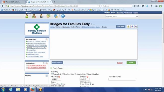 2017-06-09 FSM Bridges troubleshooting