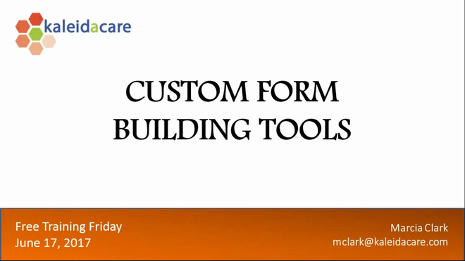 Free Training Friday 2017-06: Incorporating Recent Enhancements and Building Custom Forms