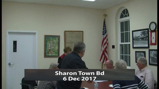 Sharon Town Bd -- 6 Dec 2017