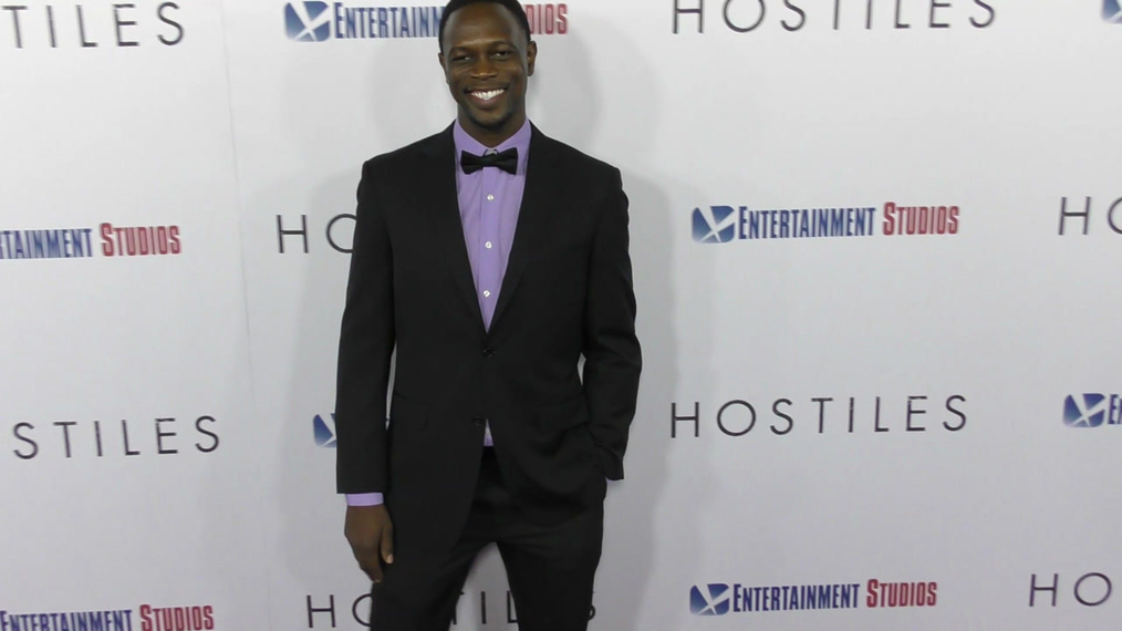 Newton Mayenge at the Hostiles Premiere at Samuel Goldwyn Theater in Beverly Hills.mp4