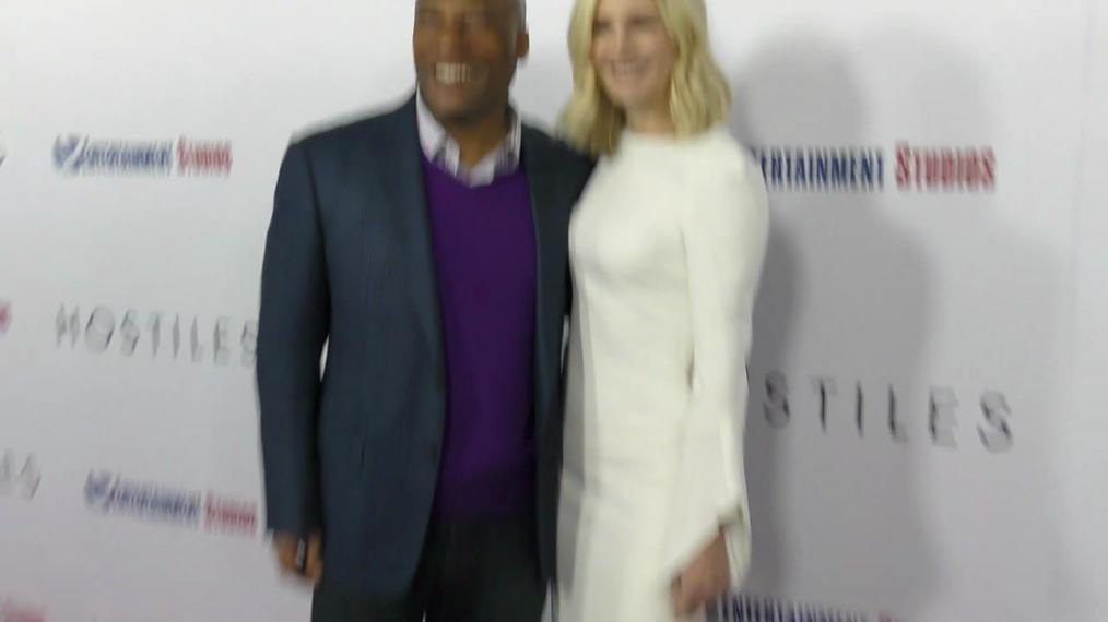 Byron Allen and Jennifer Allen at the Hostiles Premiere at Samuel Goldwyn Theater in Beverly Hills.mp4