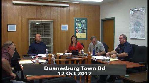 Duanesburg Town Bd -- 12 Oct 2017