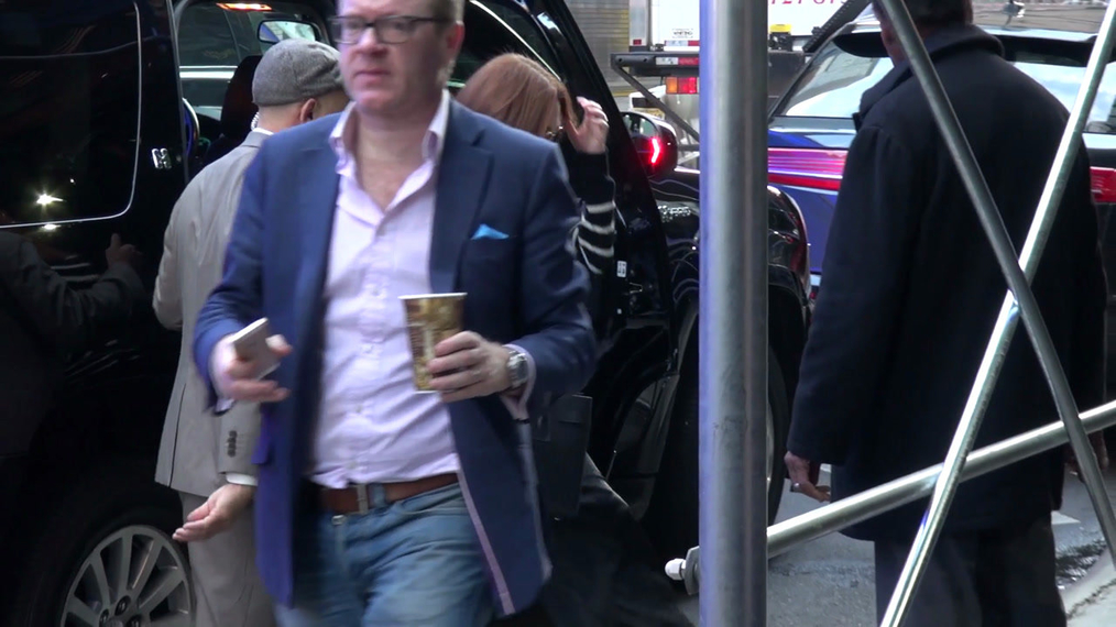 Julianne Moore outside Good Morning America in New York.mp4
