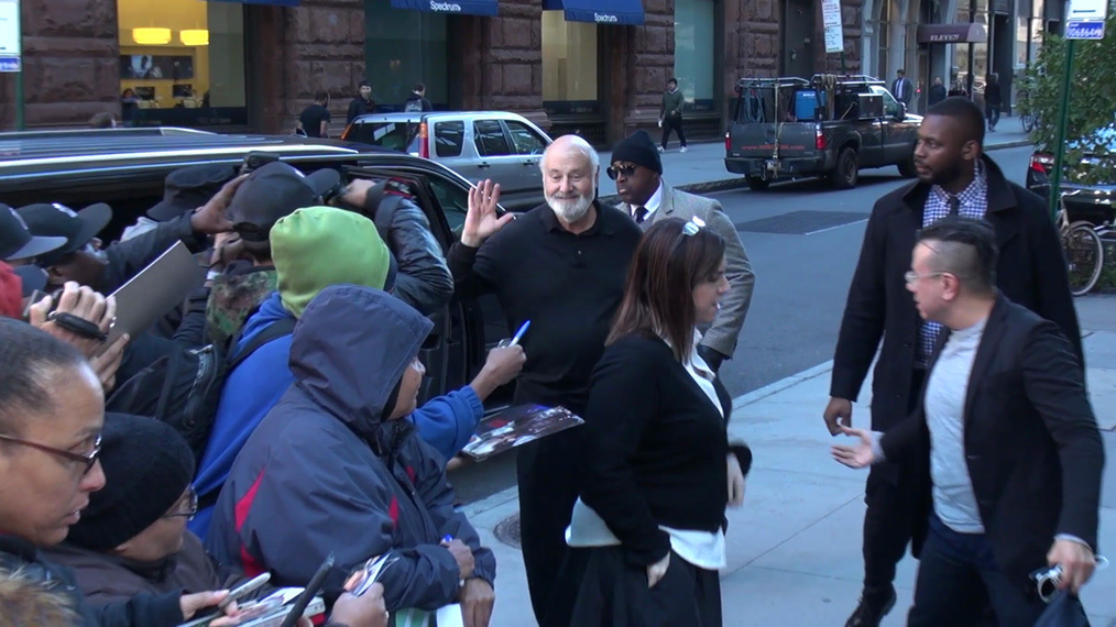 Rob Reiner outside the BUILD Series in New York.mp4