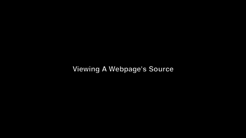 Viewing A Webpage's Source Week 3.mp4