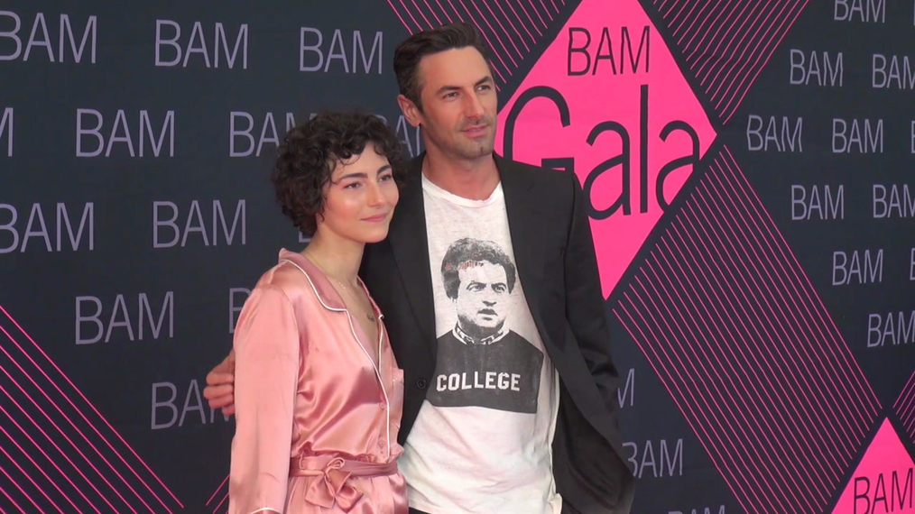 Jenna Josepher & Josh Wald attends the BAM Gala 2018 at Brooklyn Cruise Terminal in New York.mp4