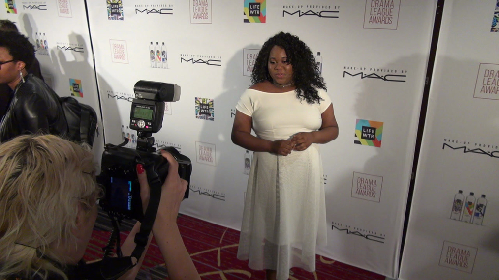 Alex Newell attends the 2018 Drama League Awards at Marriott Marquis Times Square in New York City.mp4