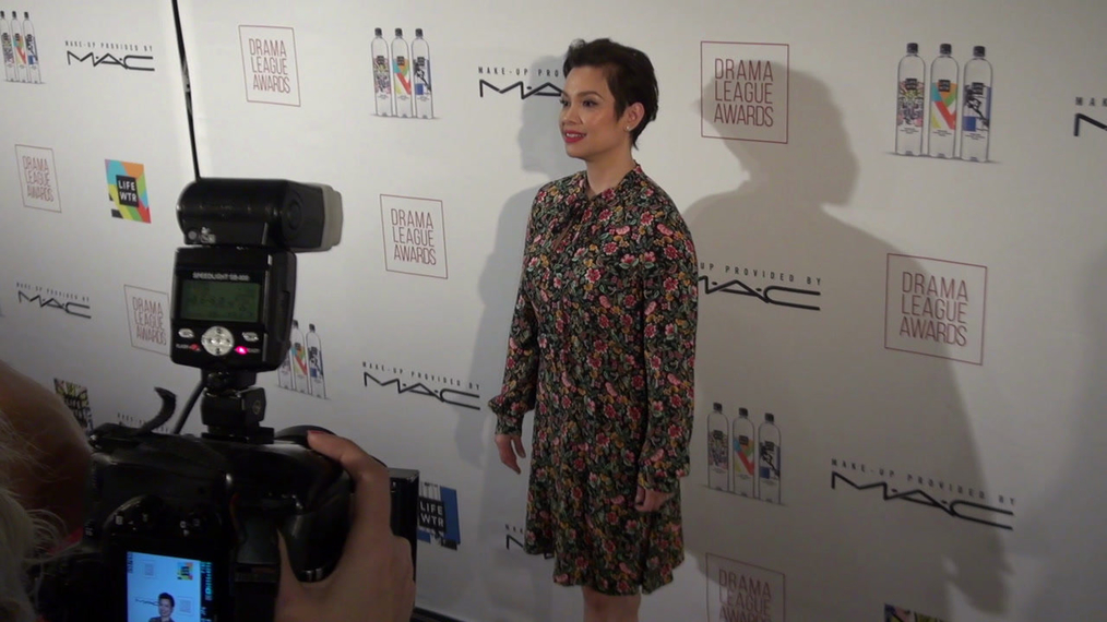 Lea Salonga and cast from Broadway Play Once On This Island attend the 2018 Drama League Awards at Marriott Marquis Times Square in New York City.mp4