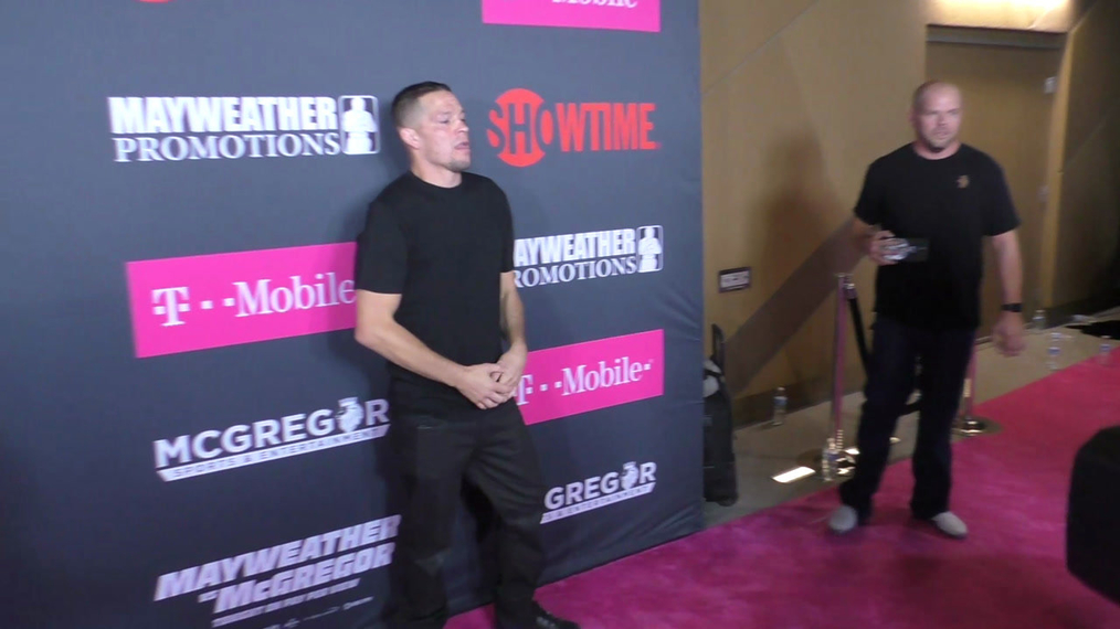 Nate Diaz arriving to the VIP Pre-Fight Party Arrivals on the T-Mobile Magenta Carpet For 'Mayweather VS McGregor at TMobile Arena in Las Vegas.mp4