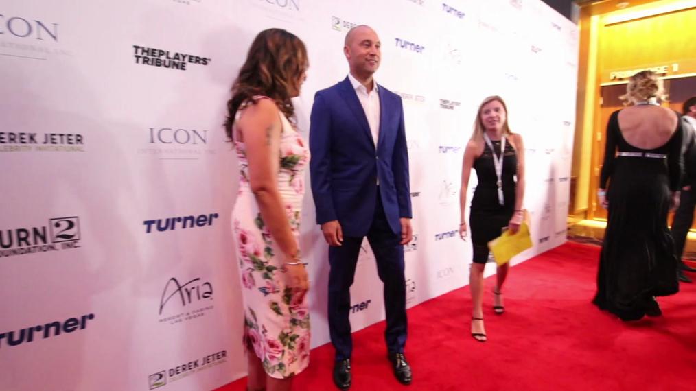 Sharlee Jeter and Derek Jeter at the 2018 Derek Jeter Celebrity Invitational Gala at the Aria Resort & Casino in Las Vegas.mp4