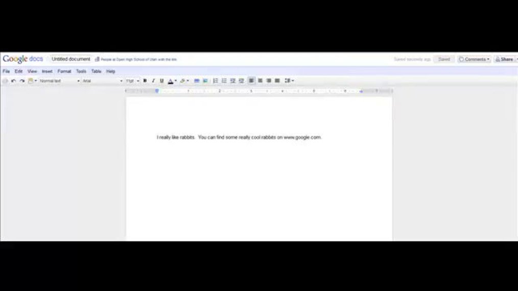 Inserting links in google docs.mp4