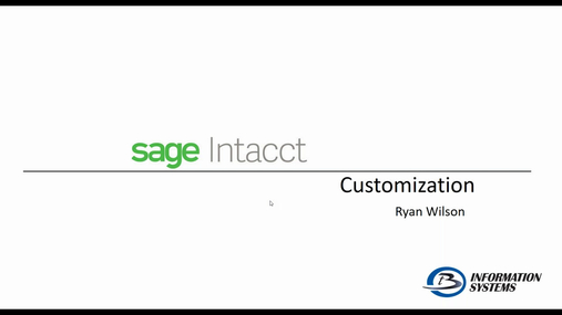 Customize Your Intacct Experience