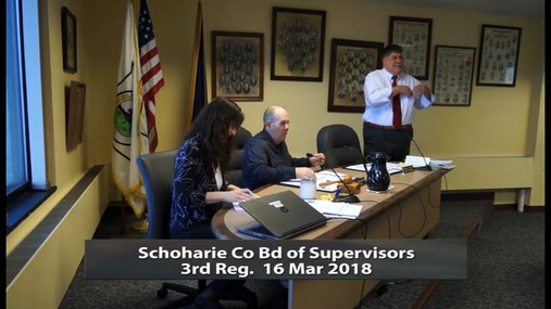 Schoharie Co Bd of Supervisors 3rd Reg -- 16 Mar 2018