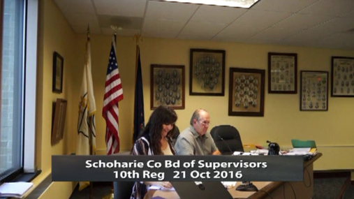 Schoharie Co Bd of Supervisors 10th Reg  21 Oct 2016