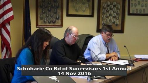 Schoharie Co Bd of Supervisors 1st Annual -- 14 Nov 2016