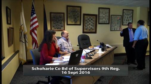 Schoharie Co Bd of Supervisors 9th Reg, -- 16 Sept 2016