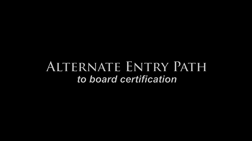 Dr. Solanki - Alternate Entry Path