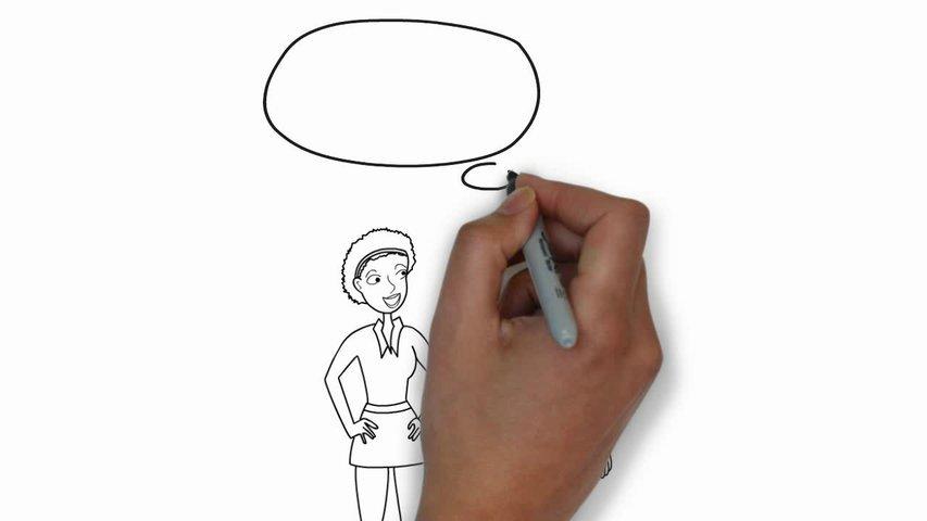 Create an awesome Whiteboard cartoon animation video