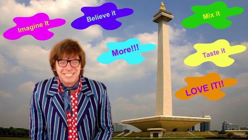 Film a groovy 30-60 second business commercial in the style of Austin Powers