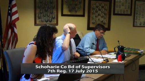 Schoharie Co Bd of Supervisors 7th Reg. 17 July 2015 Part 1