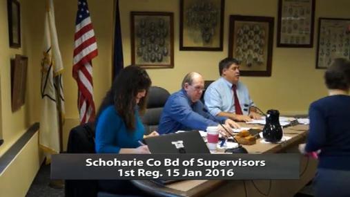 Schoharie Co Bd of Supervisrors 1st Reg -- Jan 15 2016