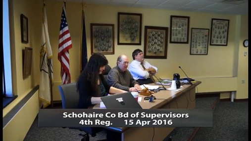 Schoharie Co Bd of Supervisors 4th Reg -- Apr 15 2016