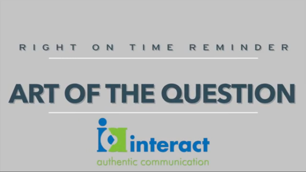Right on time Reminders - The Art of the Question