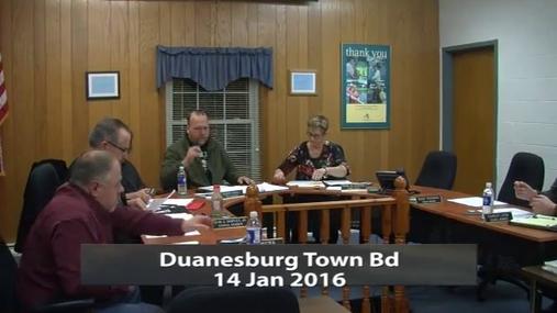 Duanesburg Town Bd -- Jan 14 2016
