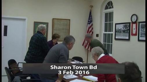 Sharon Town Bd -- Feb 3 2016