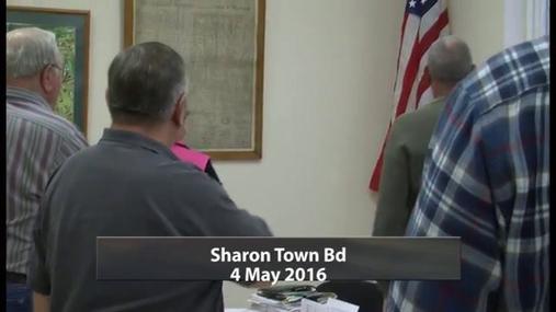 Sharon Town Bd -- May  4 2016