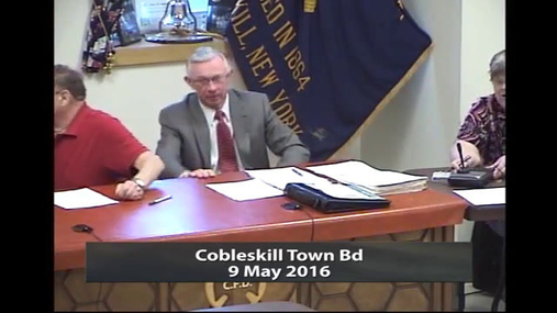 Cobleskill Town Bd -- May 9 2016
