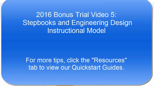 NexGen Tips & Tricks:  Stepbooks and Engineering Design