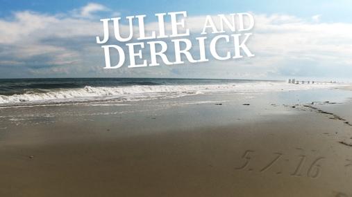 Julie and Derrick Wedding Gram