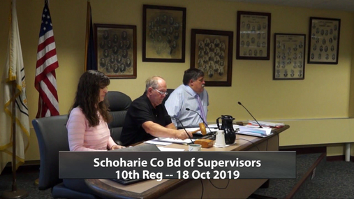 Schoharie Co Bd of Supervisors 10 Reg --18 Oct 2019