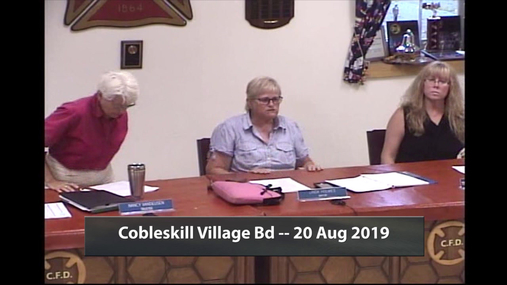 Cobleskill Village Bd -- 20 Aug 2019