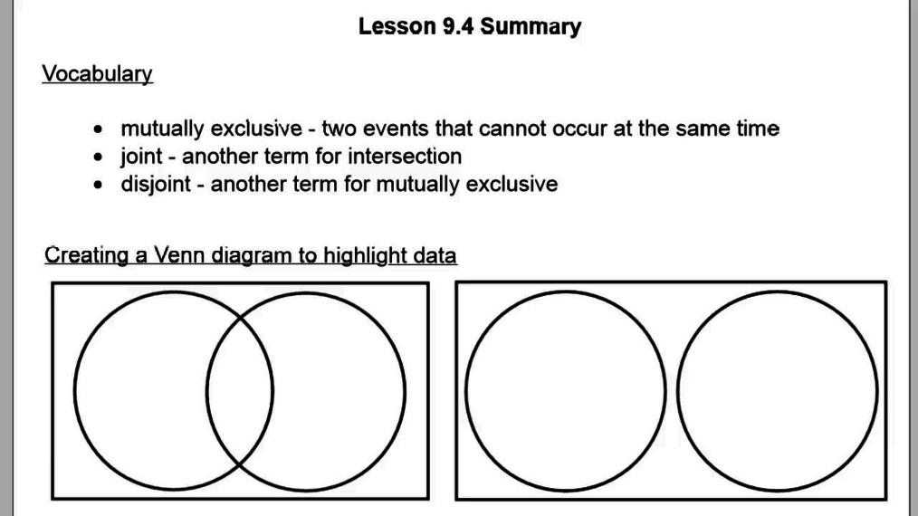 Lesson 9.4 Summary.vid
