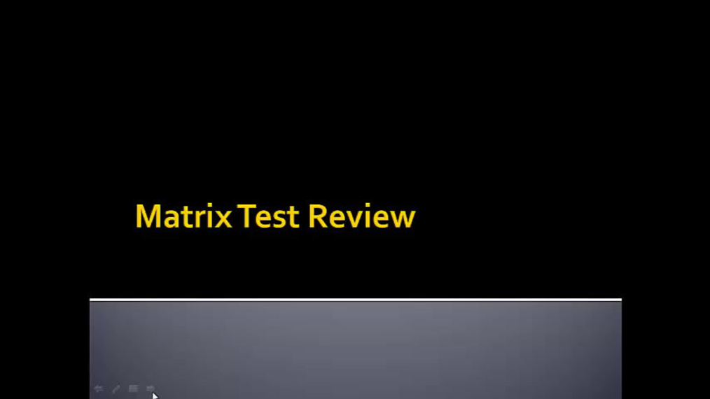 SMIH Matrix Test Review.mp4