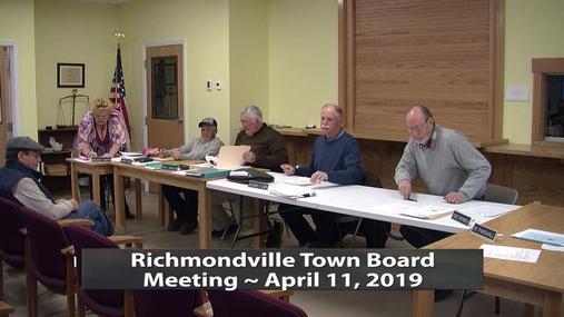 R'ville Twn. Board -- April 11,2019