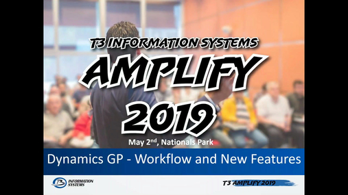 Dynamics GP - Workflow and New Features