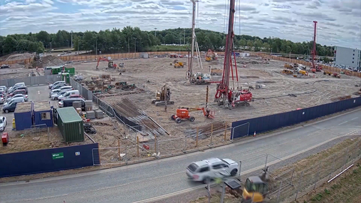 First time-lapse video revealed of new multi-storey car park under construction