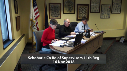 Schoharie Co Bd of Supervisors 11 Reg -- 16 Nov 2018