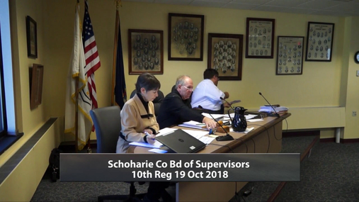 Schoharie Co Bd of Supervisors 10th Reg -- 19 Oct 2018